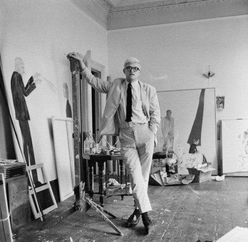 """David Hockney"" Tony Evans, London, 1963"