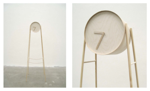 Tick Tock, Wooden Clock by Charlotte Ackemar, Sweden. Winner of Muuto Talent Award 2012. Charlotte Ackemar is from Konstfack, University College of Arts, Crafts and Design. #allgoodthings #danish spotted by missdesignsays.