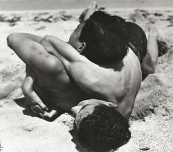 sinuses:  Wrestling Boys II, Baltic Sea, 1933.  Photo: Herbert List