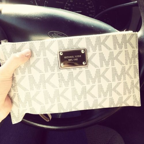 october—fifteenth:  my pretty vanilla pvc wristlet!