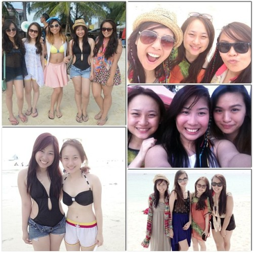 Ladies!!! @annuhbee   @erikadeej #jessy #mawie #airah #instacollage #beach #ladies #summer (at Station 2, Boracay)