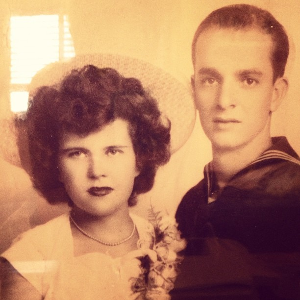 My great grandparents in the 40's. they've been together ever since, even though grandpa passed #truelove 💚