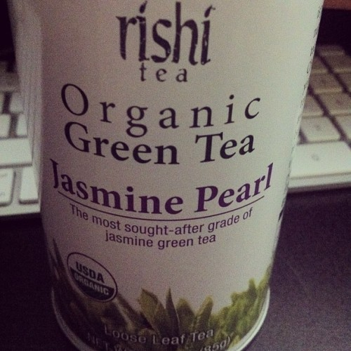 This is amazing green tea. Kind of expensive but really very good. If you like Jasmine Green, this reigns supreme. #Tea #Yixing #Tetsubin #organic #heady