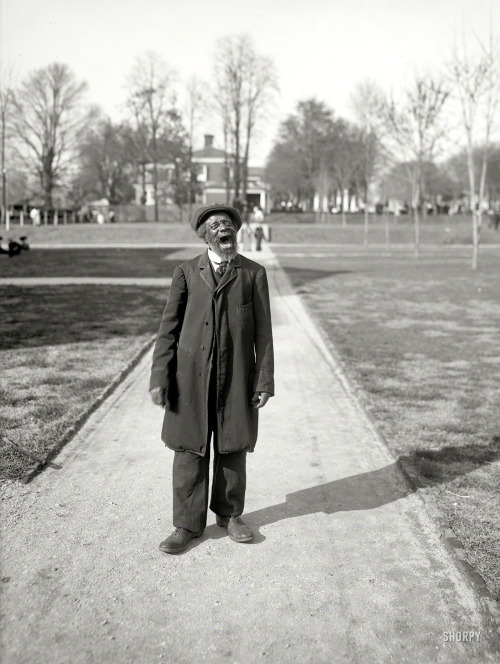 "via SHORPY: ""Charlottesville, Virginia, circa 1905. ""Buzzard Pete."" Evidently a beloved figure on the University of Virginia campus, fondly recalled decades later in various alumni publications. 8x10 inch glass negative, Detroit Publishing Co."""