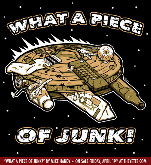 "mikehandyart:  ""What a Piece of Junk!"" by Mike Handy On sale today (April 19th) for $11 at THE YETEE. 24 Hours Only!"