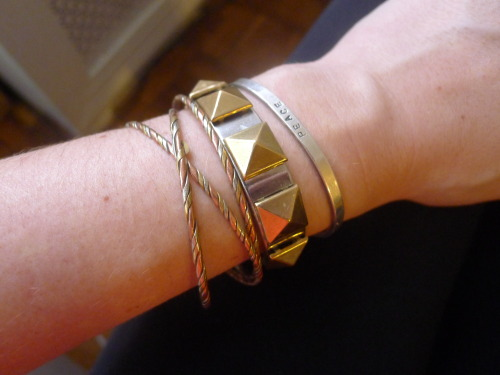 DIY studded cuff bracelet from Thanks, I Made It
