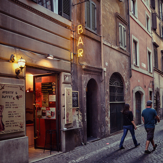 | ♕ |  Backstreet BAR in Rome  | by © macsoapy | via ysvoice