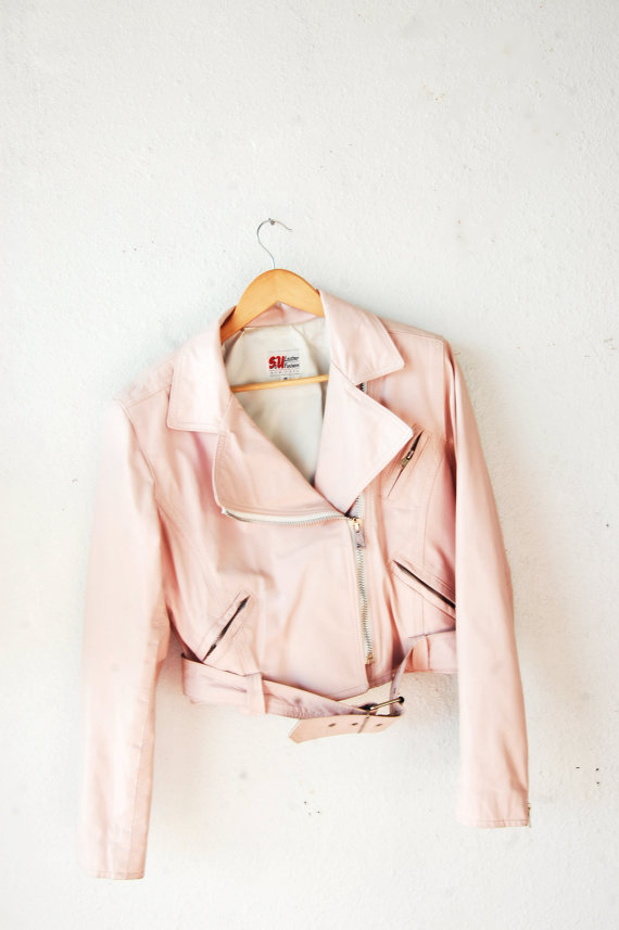 thunder-bunny:  Pastel Motorcycle Jacket $100.71