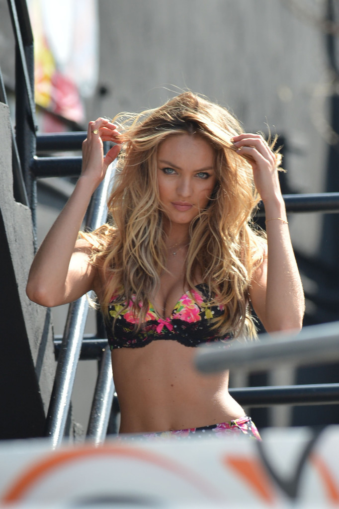 sexycandiceswanepoel:  Victoria's Secret commercial shoot in Miami 2/8/13