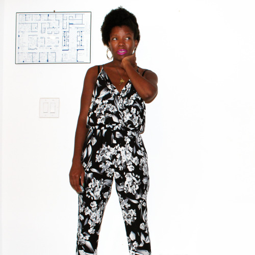 August 7, 2014; loud floral jumpsuits bought on clearance; [Jumpsuit, $25, Marshals]