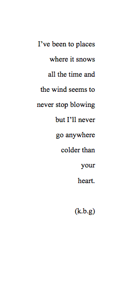 lettersto-savemyself:  As Cold As Your Heart (115/365)