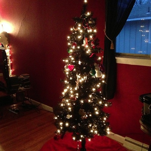 Our black Christmas tree!