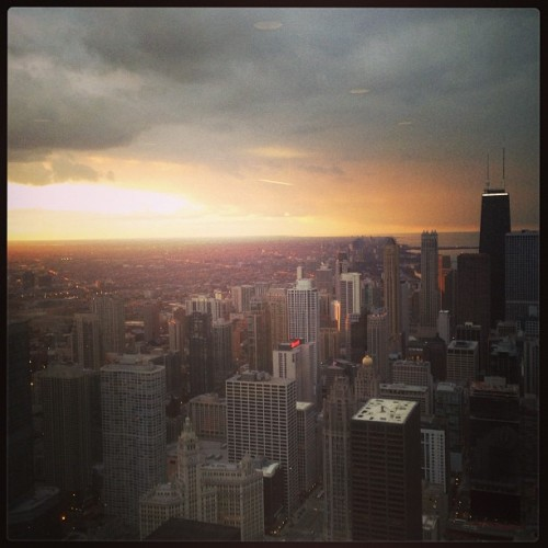 #chicago #sunset