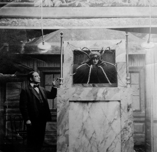 "chagalov:  Emmy Hennings on stage as ""truth-speaking"" spider, 1915  [+](mention: Nachlass Hugo Ball und Emmy Hennings / Robert Walser-Stiftung Zurich) Hennings was then working with the Maxim vaudeville troupe in Zürich. In her diary, she described a stint as the Greek mythological figure Arachne who was to offer ""Eternal Truth, only 20 centimes"" :  Eternal Truth comes from me of course and I find it comical. And that it should come so cheap. As if what we demand were not worth much. A theatre death, a real variety death would be the right thing for me. One would really like to be the truth, not only appear to be it, and if I were to be found entangled in my net I would be the truth. Masked to the very last. […] We believe in the proven truth of illusion.  Photo and quote from :  Ruth Hemus, Dada's Women (Yale University Press - New Haven & London, 2009)"