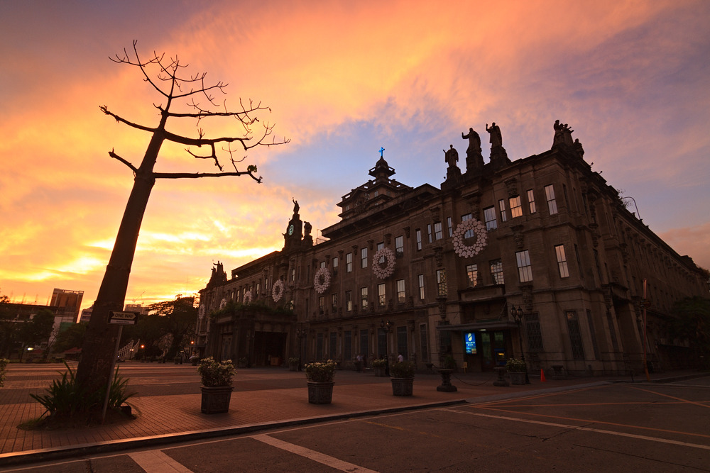 Sunset in UST (Wednesday - January 9, 2013)