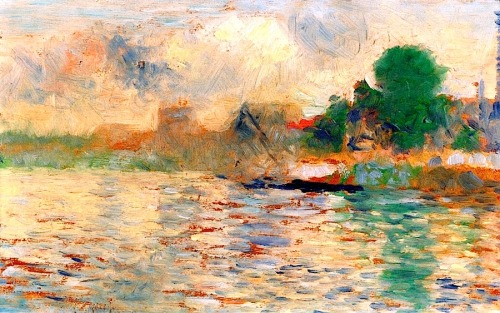 bofransson:  Bank of the Seine, circa 1884 - Georges Seurat