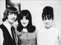 Starkey's & Freda Kelly Circa Summer 1965 - Official Beatles Fan Club President and long time friend of the Beatles, Freda Kelly, visited with Ringo and Maureen during her vacation. Expectant mum Maureen had previously worked with Freda helping out at the Beatles' Fan Club offices in Liverpool.