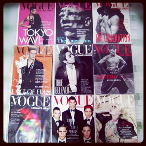 Finally get all of them! Vogue Hommes Japan Magazines @nicolaformichetti @nicopandafans