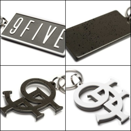 #9FIVE and #9F Speckles/White keychains are only available on 9fivesite.com (at www.9fivesite.com)