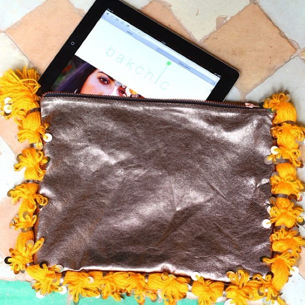 Ipad from a berber view on www.bakchic.com @bakchic #berber #clutch