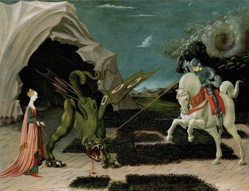 Paolo Uccello Saint George slaying the dragon c. 1450-1455 National Gallery, London