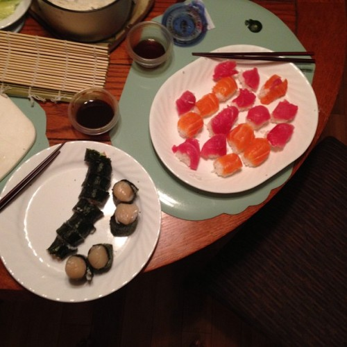 First attempt at Sushi @ Home was a success! @elainesl1 is a good teacher (at Culver City, CA)