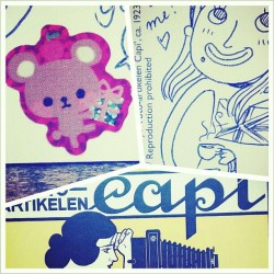 @paolatonelli sent! #postcards #postcrossing #doodles #swap #stickers #illustration