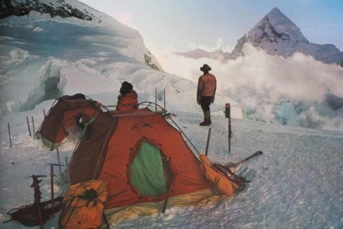 Check out this pic from the 1963 Mt Everest ascension by the US - Gerry supplied all the gear, equipment and outerwear!  Seriously!  :)