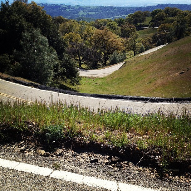 On the Mt. Hamilton climb. I was down there. Then there in the middle. Then where I'm taking this photo. And then I kept going.