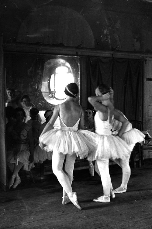 bellecs:  Scene at the School of American Ballet, New York, 1936.