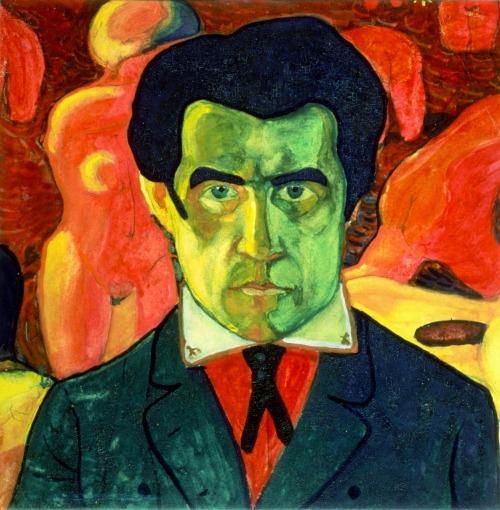 hipinuff:  Kazimir Malevich(Russian, born Ukraine: 1878–1935),Self Portrait, 1908. Oil on canvas,27x26.8cm,Tretyakov Gallery, Moscow.