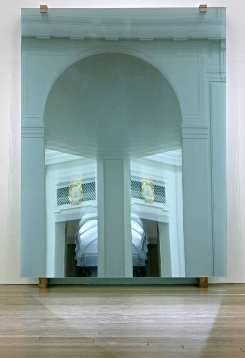 Gerhard Richter, 11 Panes / 11 Scheiben, Glass and wood object each: 2780 x 2120 x 8 mm, 118 kg overall: 2900 x 2120 x 540 mm 1298 kg, 2004.