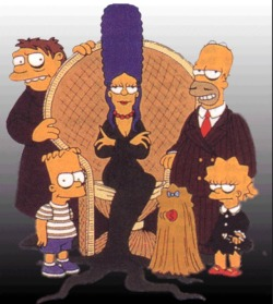 the simpsons homer simpson bart simpson the addams family treehouse of horror vintage horror vintage halloween horror cartoons halloween cartoons