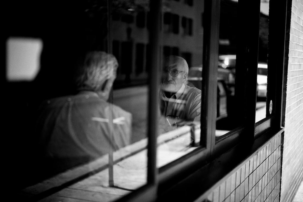 35lux:  Pasadena, Calif.:  April, 2013.   Listening.  Leica M (Type 240).  50 'lux.     Aperture. Silver Efex Pro 2.  I'm still happy with the Fuji X-Pro 1:  The M is a nice camera but not worth the money.  Lovely!!!