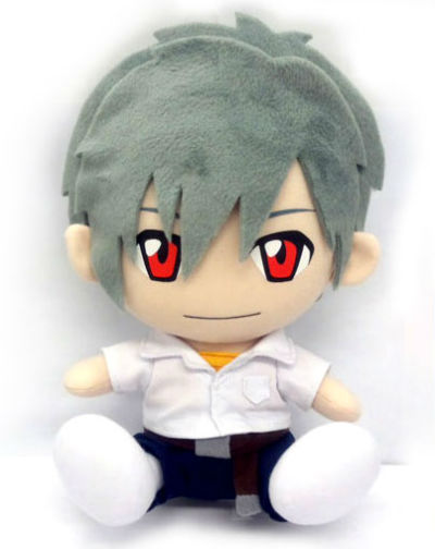 therandominmyhead:  Kaworu plushie….. of course he's sold out.    Second run of this plushie which was originally released in 2007, so they might do another run… in another 5 years at the rate they're going.
