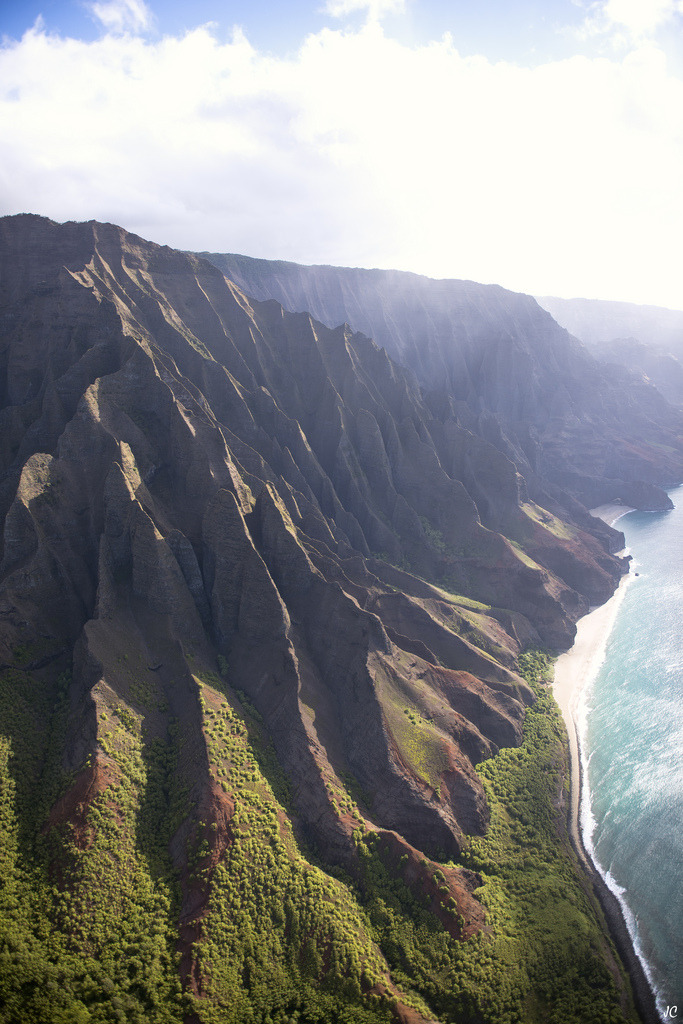 Napali Coast. North. From Above (by JC Bonassin)