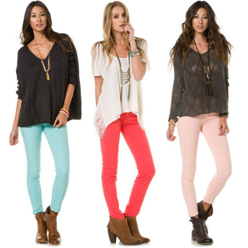 Operation Bring Back the Color! Shop the trend: Colored Denim