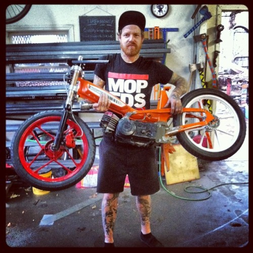 brandonnn757:  derbi engine on a motobecane 40t.. sick.  Love this dude.
