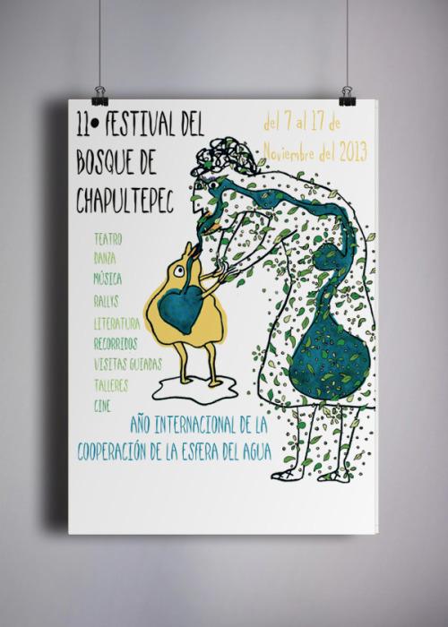 galeriavacia:  'Cartel 11 Feria del Bosque de Chapultepec', Ilustración, 2013. https://www.behance.net/gallery/16606359/Cartel-Festival-del-Bosque-de-Chapultepec-Ilustracion