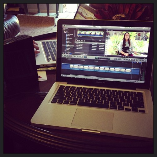 Film editing! #fcpx #finalcutprox #finalcutpro #mac #editing #video #fun