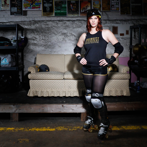 alexsmithphotography:  Milwaukee Brew City Bruisers Derby Girl-Emfatale.