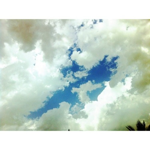 #qatar_weather #qa #qatar #sky #clouds #love #blue