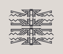 Pendle sketch, adapted from a Navajo blanket.