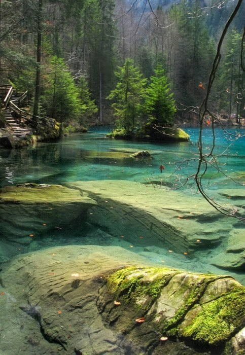 magicalnaturetour:  Blue Lake, Bernese Oberland, Switzerland Source