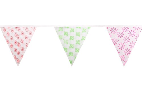 Our summery neon patterned bunting makes a great addition to outdoor parties! Only £14.95.