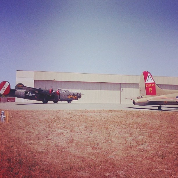 ultrastarvingmusician:  Only B-24 left in flying condition. #warbird #murrica #b-24 #wwii (at Monterey Regional Airport)