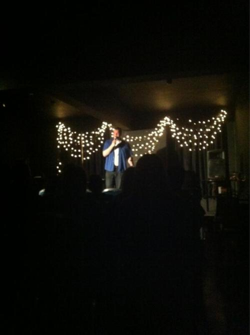 Eddie French at The Wrong Show last night.