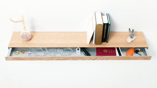nicholas-cho:   Hideaway shelf - Torafu Really smart solution