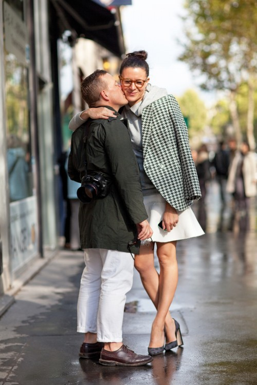 Street style love (captured by Mr. Newton)
