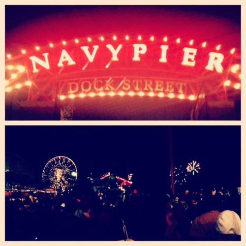 Rang in the new year with fireworks at Chicago's navy pier! Beautiful and tons of fun!